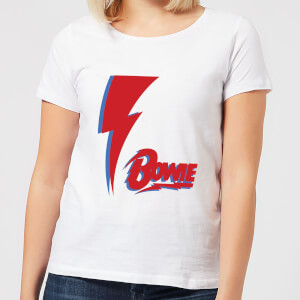 David Bowie Bolt Women's T-Shirt - White