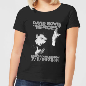 David Bowie Heroes Earls Court Women's T-Shirt - Black