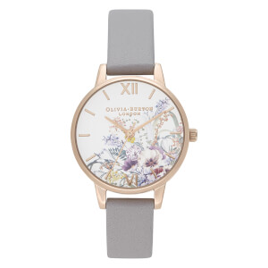 Olivia Burton Women's Enchanted Garden Watch - Grey Lilac