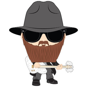 Pop! Rocks ZZ Top Billy Gibbons Pop! Vinyl Figure