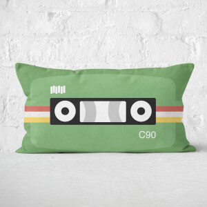 Retro Cassette Tape Rectangular Cushion