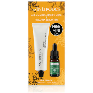Antipodes Discovery Set - Aura Manuka Honey Mask and Mini Hosanna H2O Skin-Plumping Serum (Worth $61.00)
