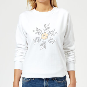 Flower 15 Women's Sweatshirt - White