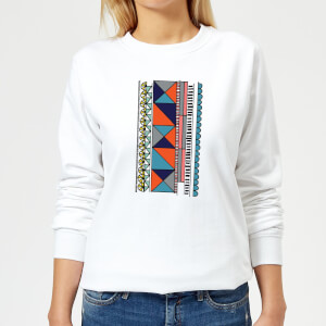 Abstract Pattern Women's Sweatshirt - White