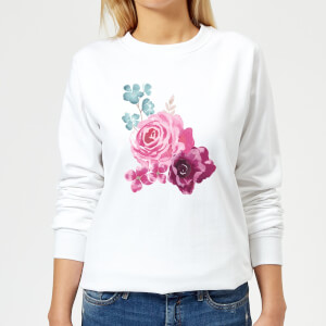 Bunch Of Flowers 2 Women's Sweatshirt - White