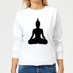Buddha Women's Sweatshirt - White