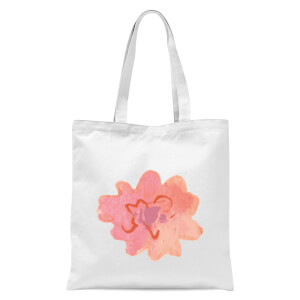 Flower 12 Tote Bag - White