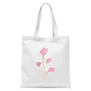 Flower 17 Tote Bag - White