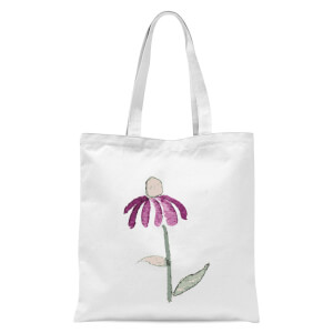 Flower 18 Tote Bag - White