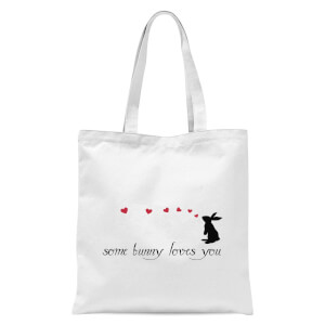 Some Bunny Loves You Tote Bag - White