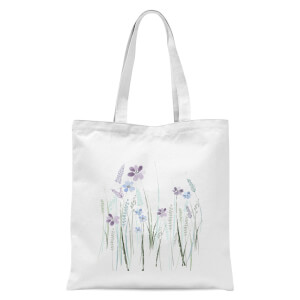 Meadow Flowers Tote Bag - White