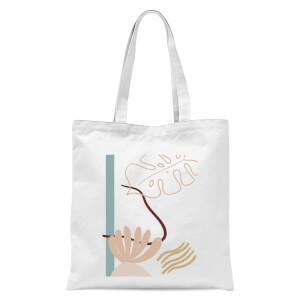 Tropical Leaf Tote Bag - White