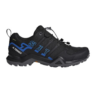 adidas Men's Terrex Swift R2 Goretex Hiking Shoes - Core Black/Blue
