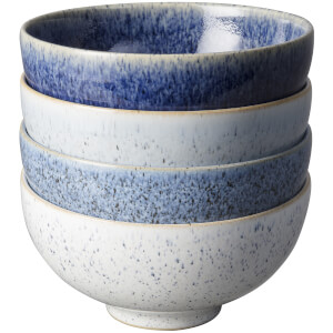 Denby Studio Blue 4 Piece Rice Bowl Set
