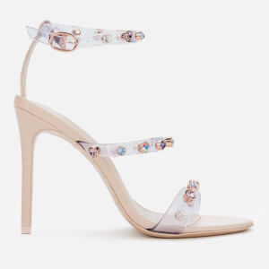 Sophia Webster Women's Rosalind Gem Triple Strap Heeled Sandals - Dusty