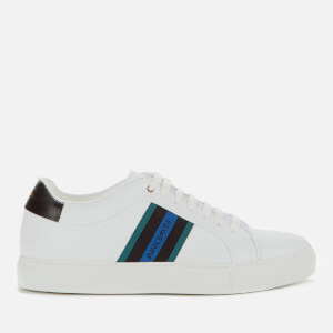 Paul Smith Men's Basso Leather Cupsole Trainers - White Stripe