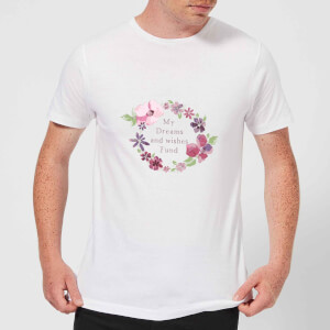 Candlelight My Dreams And Wishes Fund Floral Ring Men's T-Shirt - White
