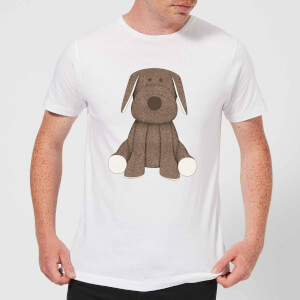 Candlelight Brown Dog Teddy Men's T-Shirt - White