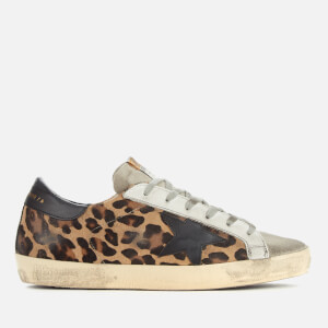 Golden Goose Deluxe Brand Women's Superstar Trainers - Snow Leopard/Black Star