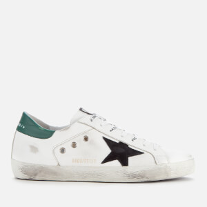 Golden Goose Deluxe Brand Men's Superstar Trainers - White Leather/White Canvas/Black Star
