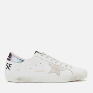 Golden Goose Deluxe Brand Men's Superstar Trainers - White Leather/Golden Goose Printed