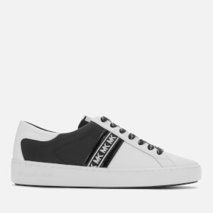 MICHAEL MICHAEL KORS Women's Keaton Stripe Low Top Trainers - Optic/White/Black