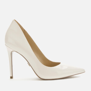 MICHAEL MICHAEL KORS Women's Keke Patent Leather Court Shoes - Light Cream