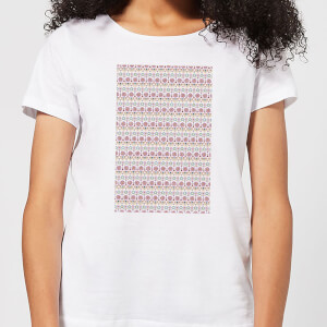 Candlelight Summer Pattern Women's T-Shirt - White