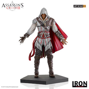 Figurine Ezio Auditore, Assassin's Creed II, échelle 1:10 (21 cm) – Iron Studios
