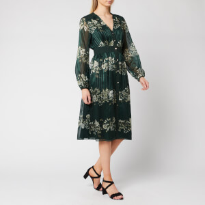 Ted Baker Women's Delyla Meadowsweet Long Sleeve Midi Dress - Dark Green