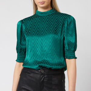 Ted Baker Women's Tiarie Bluson Puff Sleeve Top - Green