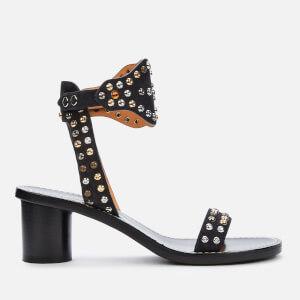 Isabel Marant Women's Jaleo Suede Block Heeled Sandals - Faded Black