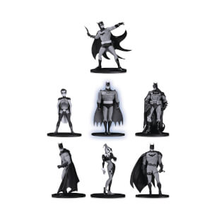 DC Collectibles Batman Black & White Mini PVC Figure 7 Pack Set 2