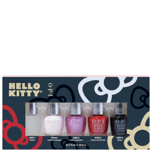 OPI Hello Kitty Limited Edition Infinite Shine 3 Step Nail Polish Mini - 5 Pack