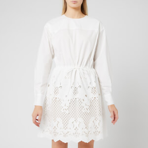 See By Chloé Women's Embroidered Poplin Dress - White
