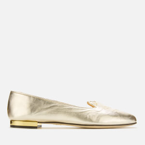 Charlotte Olympia Women's Metallic Kitty Flats - Gold