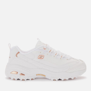 Skechers Women's D'Lites Fresh Start Trainers - White/Rose Gold