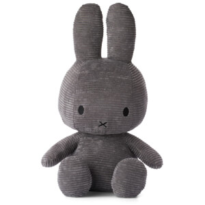 Miffy Sitting Corduroy 50cm Soft Toy - Dark Grey