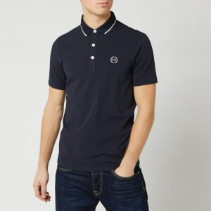 Armani Exchange Men's Small Logo Polo Shirt - Navy
