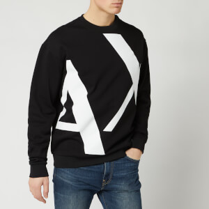 Armani Exchange Men's Large Logo Sweatshirt - Black