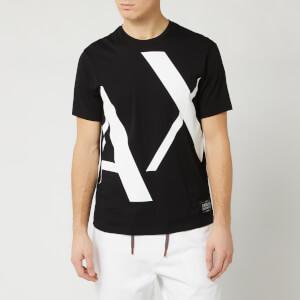 Armani Exchange Men's Large Logo T-Shirt - Black