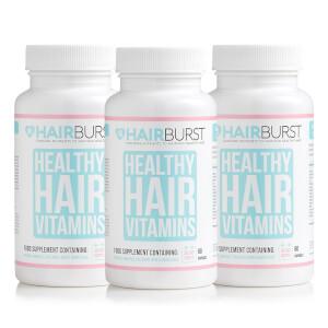 Hairburst 健康頭髮維他命膠囊 - 60粒*3罐 (三個月份)