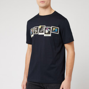 PS Paul Smith Men's Regular Fit Photos T-Shirt - Navy