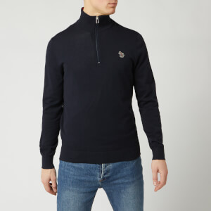 PS Paul Smith Men's Zip Neck Zebra Pullover - Navy