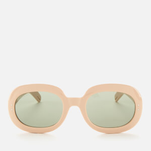 Gucci Women's Oval Frame Acetate Sunglasses - White/Green