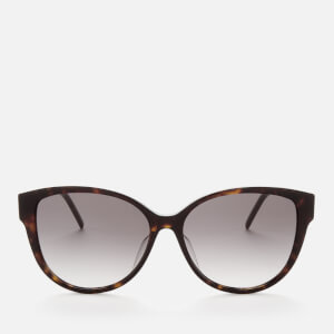 Saint Laurent Women's SLM48S Oversized Acetate Sunglasses - Havana/Gold