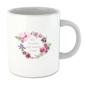 My Dreams And Wishes Fund Floral Ring Mug