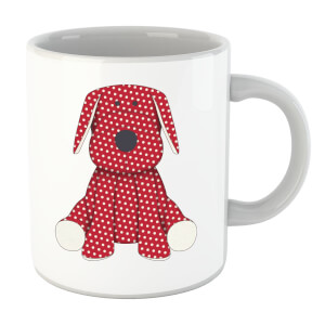 Red Polka Dot Dog Teddy Mug