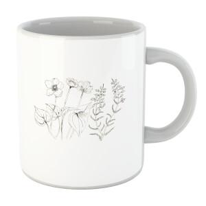 Wild Flower Line Art Mug