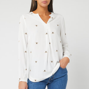 Joules Women's Rosamund Woven Top - Cream Bee